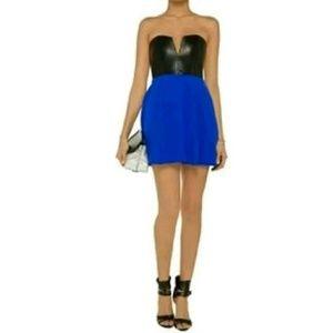 Mason Dresses & Skirts - Michelle Mason Silk Leather Corset Mini Dress XS/2