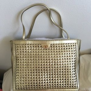 Tory Burch Handbags - Tory Burch Erica Tote in Light Gold.