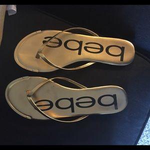Bebe gold sandals
