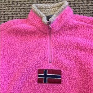 Napapijri Other - Napapijri girls size 8 geographic pink fleece
