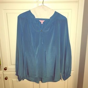 Blue Lilly Pulitzer blouse