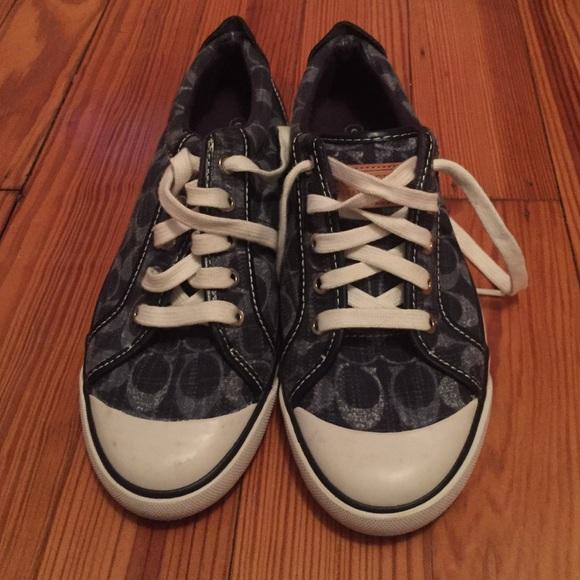 Blue Coach Barrett Sneakers   Poshmark