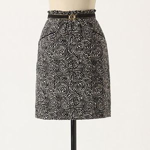 "Anthropologie ""painted night skirt"""