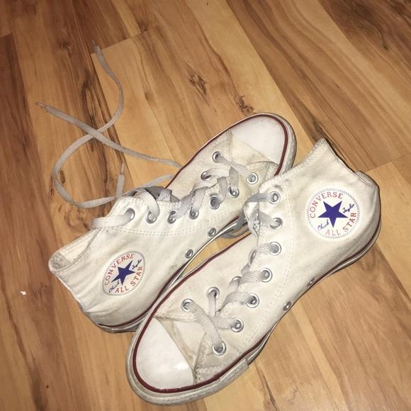 c2e890f1a0b5 Converse Shoes - White high top converse