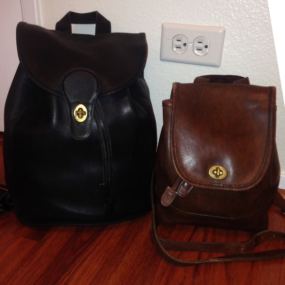 9bc8cbd4dcd21 Coach Handbags - ⚡️SALE Vintage Coach Backpack USA Leather XL HTF