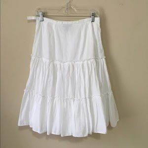 Grace Elements Dresses & Skirts - Grace Elements Elastic Waist White Boho Skirt 6