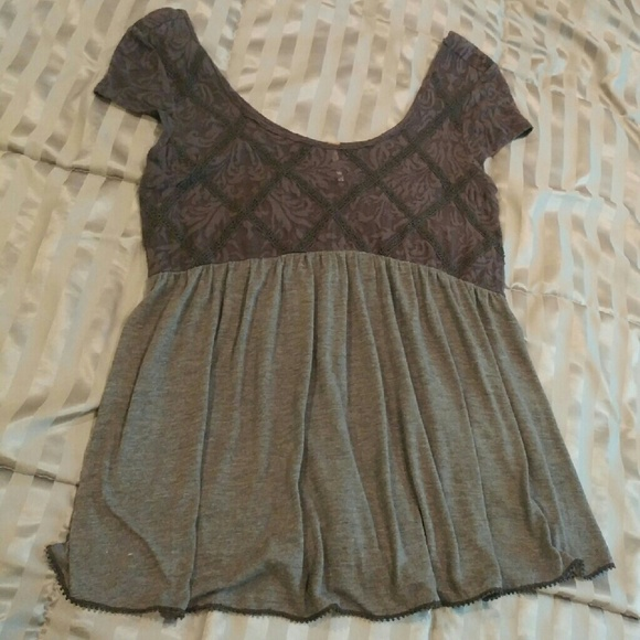 ac3dac39bf9838 Free People Tops - Free People Extreme Babydoll tunic top M gray