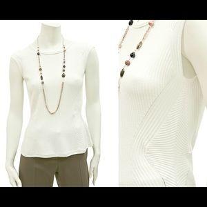 Boss Black Tops - NWT BOSS Peplum viscose and polyamide knit top