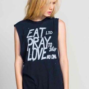 LAST ONE❗️UNIF Eat Pray Love Muscle Tee