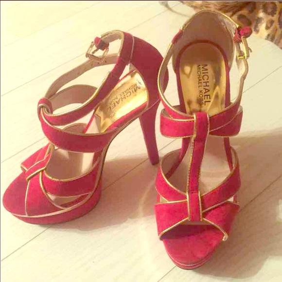 Gold Mk Heels | Poshmark