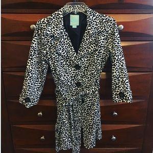HOST PICK!! Black&white leopard print trench coat!