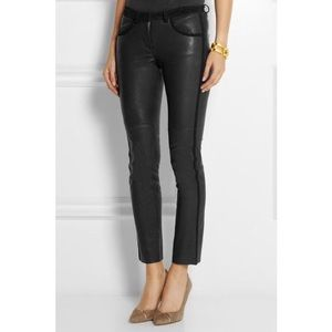 NWT Isabel Marant Black Leather Pants 42 US 10