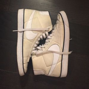 APC x Nike high top sneakers