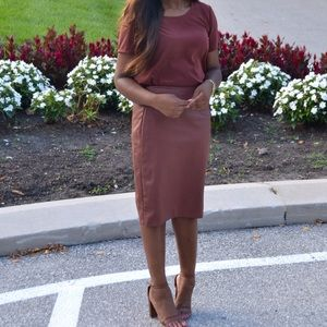 The Limited Dresses & Skirts - Brown leather skirt