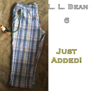 L.L. Bean Pants - 🆑FINAL🆑 L. L. Bean plaid Capri pants size 6
