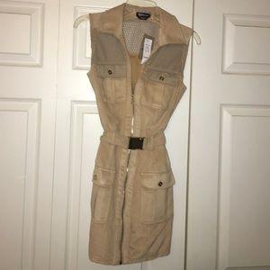 Brand new/ never been worn suede BeBe dress