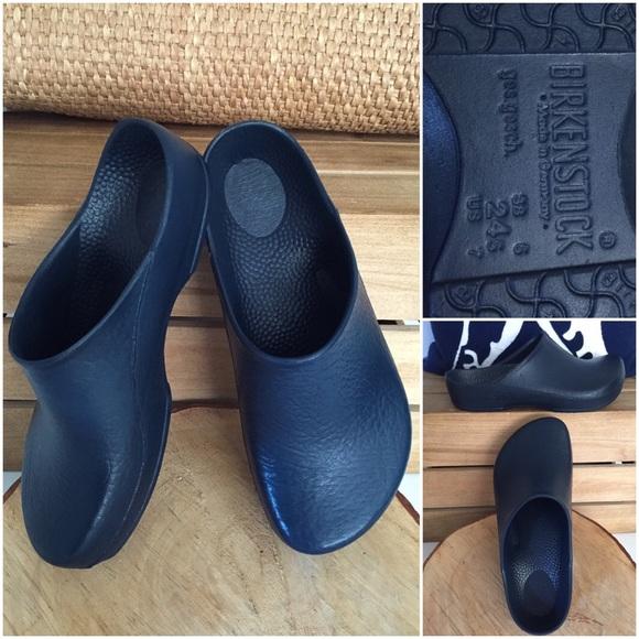 Birkenstock Shoes - Birkenstock Classic Birki Blue Slip On Clog 6c4e4063950