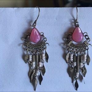 Beautiful fashionable dangling earrings 