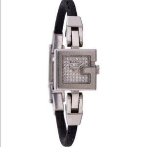 Authentic Gucci mini G diamond watch