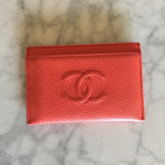 f57049ce796d CHANEL Bags | Authentic Card Holder In Coral Pink Caviar | Poshmark