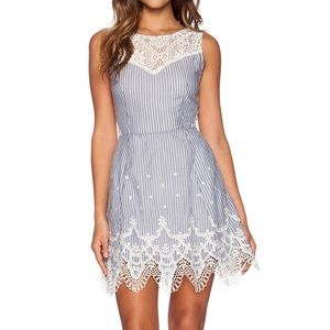 Greylin Dresses & Skirts - NWOT Greylin Mindy Lace Trim Stripe Dress
