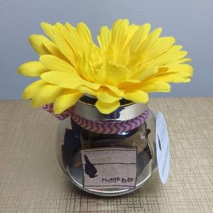 Flipped Bird Hair Ties in a Jar