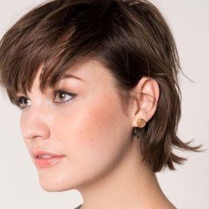 Half United Jewelry - Rose Gold Bullet Top Stud Earrings