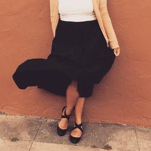 Vintage full midi skirt