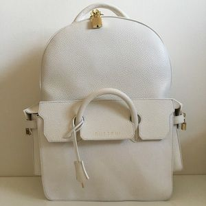 Buscemi Other - Buscemi Large Leather PhD Backpack White