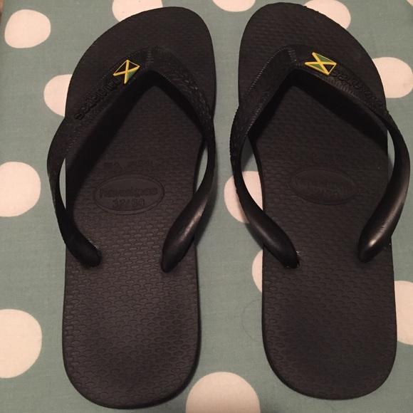 85 off havaianas shoes black havaianas flip flops with jamaican black havaianas flip flops with jamaican flag voltagebd Gallery