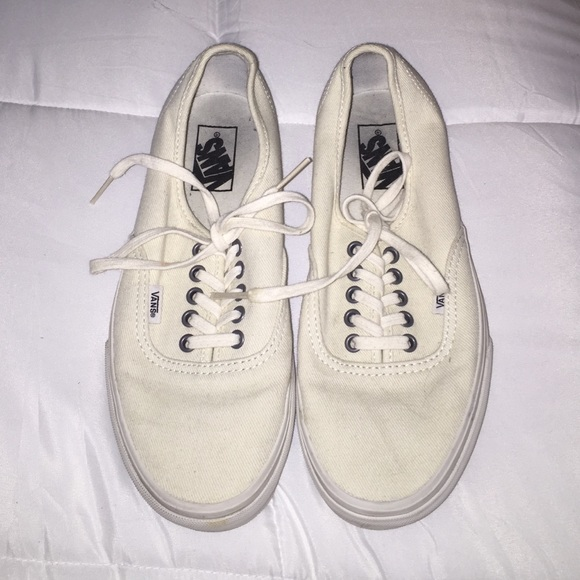 beige and cream vans
