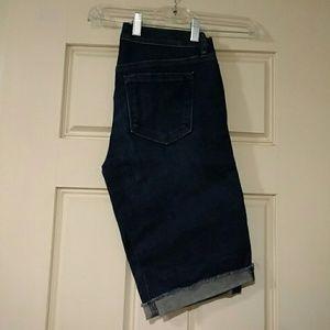 Loft denim shorts, cuffed