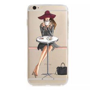 Accessories - FASHION GIRL IPHONE 7 8 PLUS SILICONE PARIS COFFEE