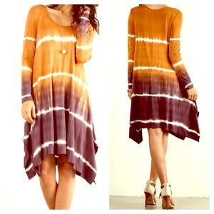 FashionBohoLoco Dresses & Skirts - Tie Dye Ombre Cape Shirt Slip Dress NWOT