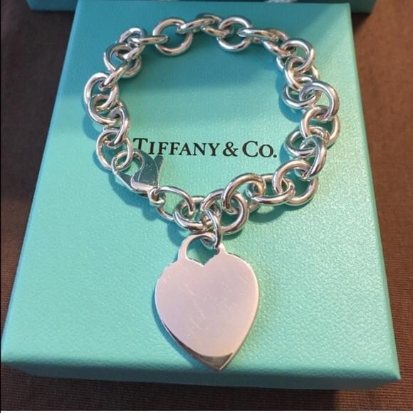 128ba7ce3 Authentic Tiffany & Co., Heart Tag Charm Bracelet.  M_57b30aea56b2d670c90008dd
