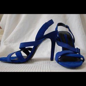 Zara Blue Suede Stilettos
