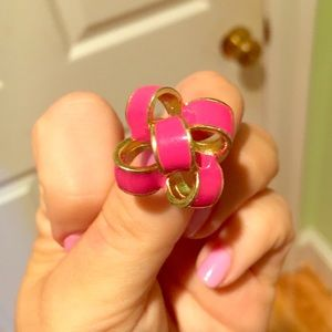 Lilly Pulitzer pink bow earrings!