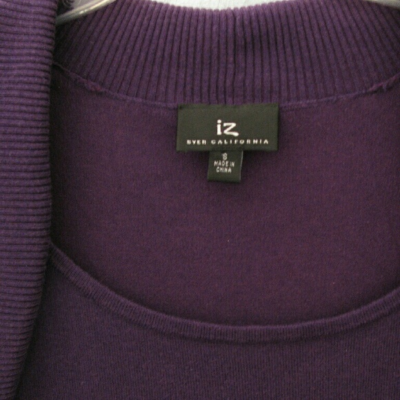 Iz Byer Sweaters - (3/$23) Purple cap sleeved sweater