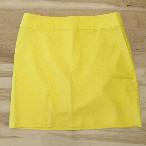 4086b761f7 LOFT Dresses & Skirts - Ann Taylor LOFT Bright Yellow Skirt