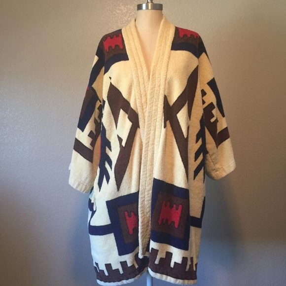 6bbd4f83cf11e Aztec vintage 1970's terry cloth robe/coverup. M_57b31dcc99086a5a030a1020