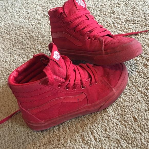 Vans Shoes | Kids Red Vans Size 3