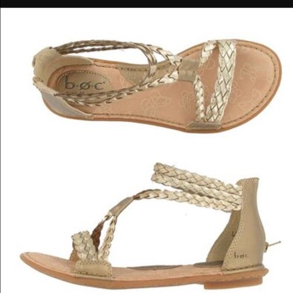 997fda341d8341 b.o.c. Shoes - b.o.c. gold gladiator sandals