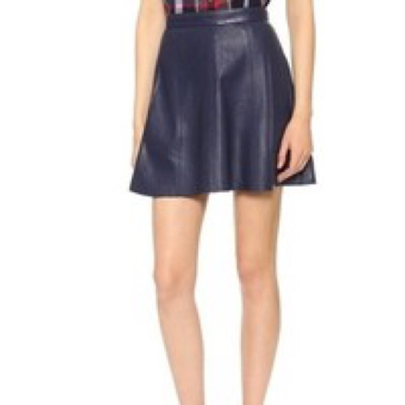 Tilary road - Navy blue faux leather skirt from Charisse's closet ...