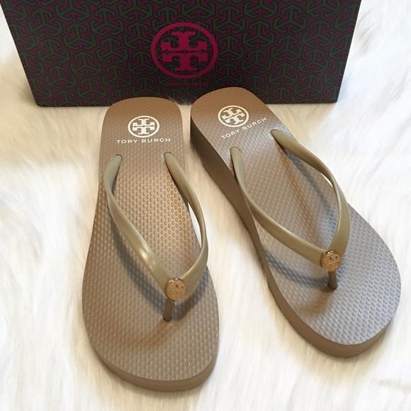 3fc6d6ba4551e NEW Tory Burch Wedge Flip Flop Thong Sandals!