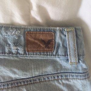 American Eagle Outfitters Shorts - American Eagle Hi Rise Festival Distressed Shorts