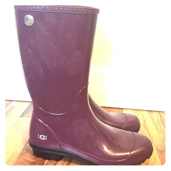 47% off UGG Shoes - Women's Ugg Shaye Rain Boot size 12 color plum ...