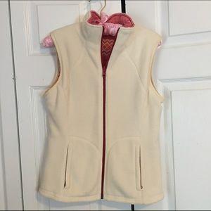reversible Vineyard Vines fleece vest