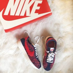Nike Shoes - Red, White & Blue Nike Roshe Sneakers