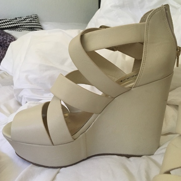 75 soda shoes strappy wedges from s closet on