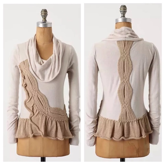87% off Anthropologie Sweaters - Moth Switching Sides tan brown ...